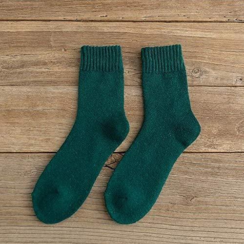 2 Pares de Calcetines para Hombres y Mujeres Calcetines de Felpa cálidos Gruesos de Invierno Calcetines de Tubo para Mujer Calcetines de Piso Calcetines de Toalla-a1