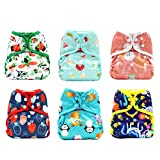 KaWaii Baby Happy Leak-Free One Size Diaper Cover Girl - Pack of 6.