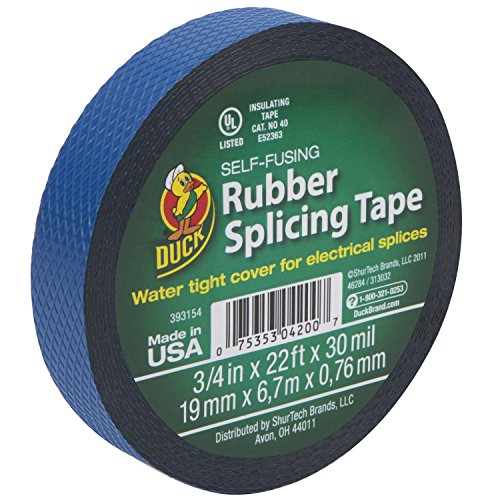 Duck Brand 393154 Rubber Splicing Tape, 3/4-Inch by 22 Feet, Single Roll, Black by Duck
