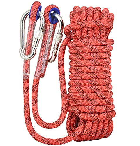 MAGFYLY Rock Climbing Rope Climbing Rope, Lifeline Rappelling Rope Aerial Work Rope, Binding Rope, Polyester 10mm High Strength Rope, Hiking, Climbing, Magnet Fishing Multipurpose Rope