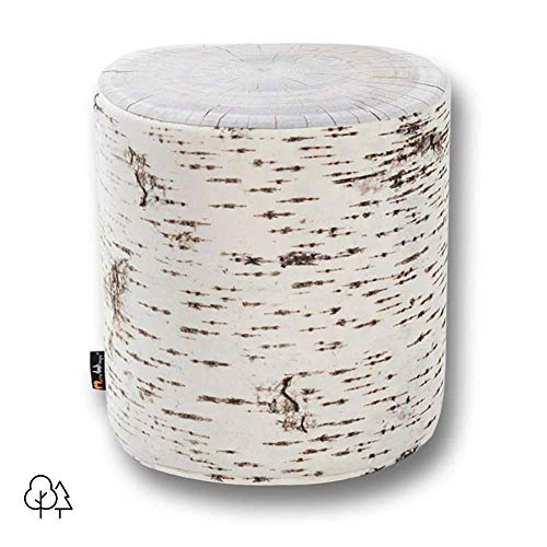 MeroWings Outdoor Baumstumpf Sitzhocker Birch
