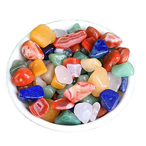 LEZED Edelsteine Halbedelsteine Natürliche Trommelsteine Natursteine Heilsteine Muggelsteine für Kinder zur Schatzsuche und Dekoration,für das Edelsteinspiel 0,8-1,2cm 200 Stück