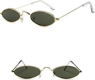Vintage Oval Sunglasses Small Metal Frames
