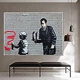 Street Graffiti Art Imagen de pared Figura vintage Pinturas en lienzo Impresiones Decoración moderna Carteles estéticos para la sala de estar del hogar Obra de arte / 50x70cm Sin marco