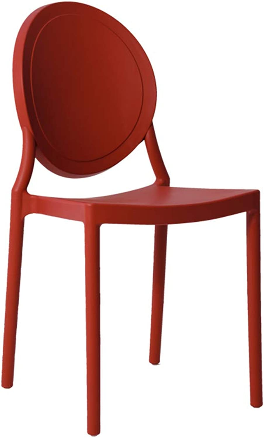 LYXPUZI Dressing Stool Plastic Chair Modern Minimalist Nordic Chair Makeup Chair Makeup Chair (color   RED)