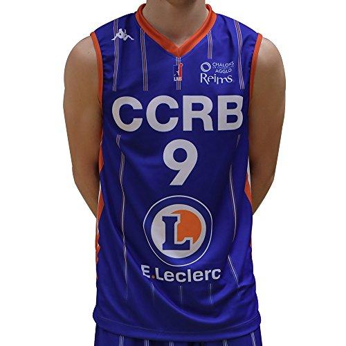 Kappa Basketball Trikot Replica CCRB Home 2017-2018 Basketball, Blau, FR: XXS (Größe Hersteller: 14 Jahre)