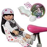 Doll Bike Seat and Doll Helmet (White Bike Seat)