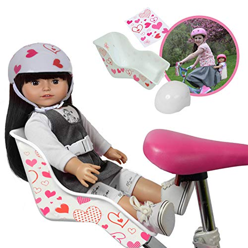 Doll Bike Seat and Doll Helmet (White Bike Seat)