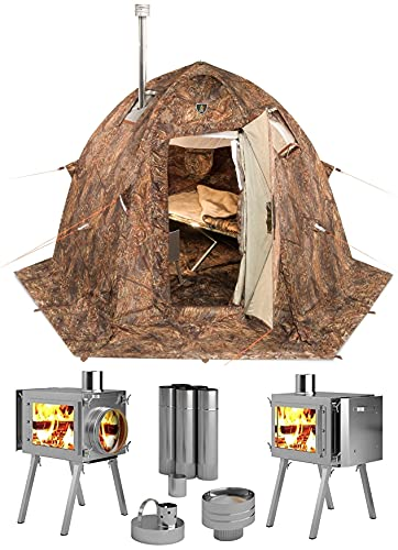 cold weather tents for campings Russian-Bear Hot Tent with Stove Pipe Vent. Hunting Fishing Outfitter Tent with Wood Stove. 4 Season Tent. Expedition Arctic Living Warm Tent. Fishermen, Hunters and Outdoor Enthusiasts!