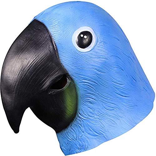 XWYZY Máscara de Halloween Halloween Fiesta Cosplay Máscara de Látex Cabeza Máscara de Cabeza Completa Máscara Animal Prop Fancy Dress Up Juguetes Loro