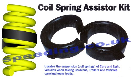 52-65mm Gap Car Suspension Coil Spring Assisters Spacers Towing Adapters Rubber