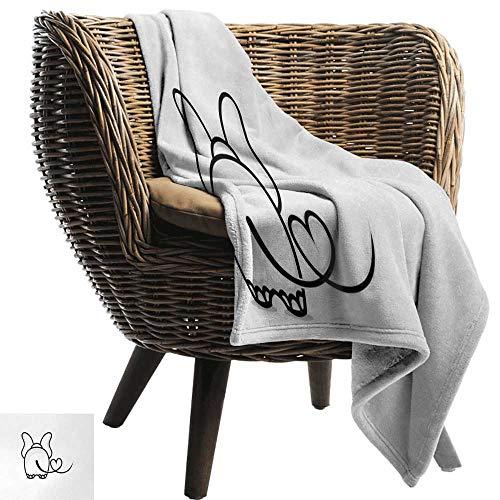 ZSUO wit gooien deken romantische, liefdevolle kat knuffelen een reus hart met ik liefde u citeren grijsschaal dier Print,Multi kleuren Gezellige en duurzame Fabric-Machine wasbaar
