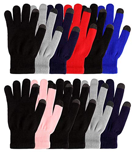 Winter Knit Glove for Women and MenTouch Screen Magic Gloves Stretchy Warm