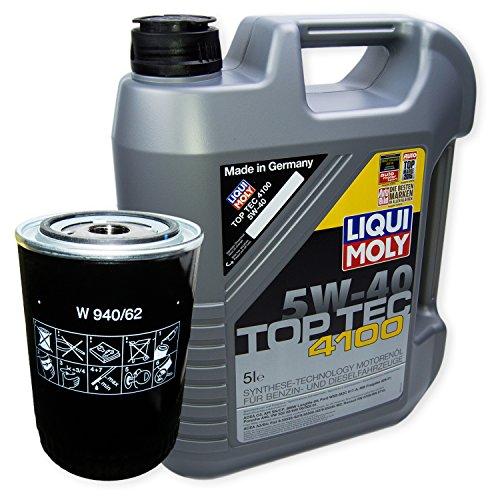 LIQUI MOLY Top Tec 4100 5W-40 3701 + MANN FILTER Ölfilter W 940/62