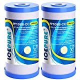 5 Micron 10' x 4.5' Whole House Water Filter Compatible with GE FXHTC, GXWH40L, RFC-BBSA, W50PEHD, Whirlpool WHKF-GD25BB, GXWH35F, GNWH38S, Dupont WFHD13001, Pentek R50-BB, 4WH-HDGR-F01 2PACK