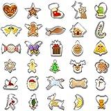 YILEEY 30 PCS Formine Biscotti, Set di Formine Biscotti Natalizie in Acciaio Inossidabile. Stampi per Biscotti Bambini. tagliabiscotti, torte, panini, Natale, Halloween. Fiocco di neve.