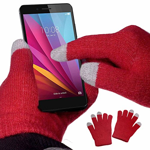 yayago Gants tactiles Taille Unique (env. S – M) – pour Huawei Honor 9 Lite