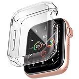 amBand Protector Apple Watch Serie 6/SE/5/4 /3/2/1 44mm, Funda Apple Watch con Vidrio Templado,Protector Pantalla iwatch Serie 6/SE/5/4 /3/2/1-transparente