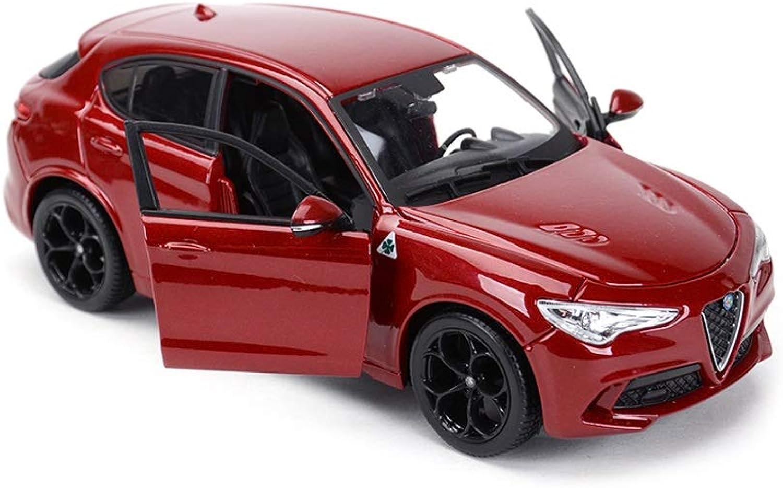 Lingling Geschenk Alfa Romeo Stelvio Sportwagen Statische Simulation Legierung Modell Dekorationen Geburtstagsgeschenk (Farbe   Red)