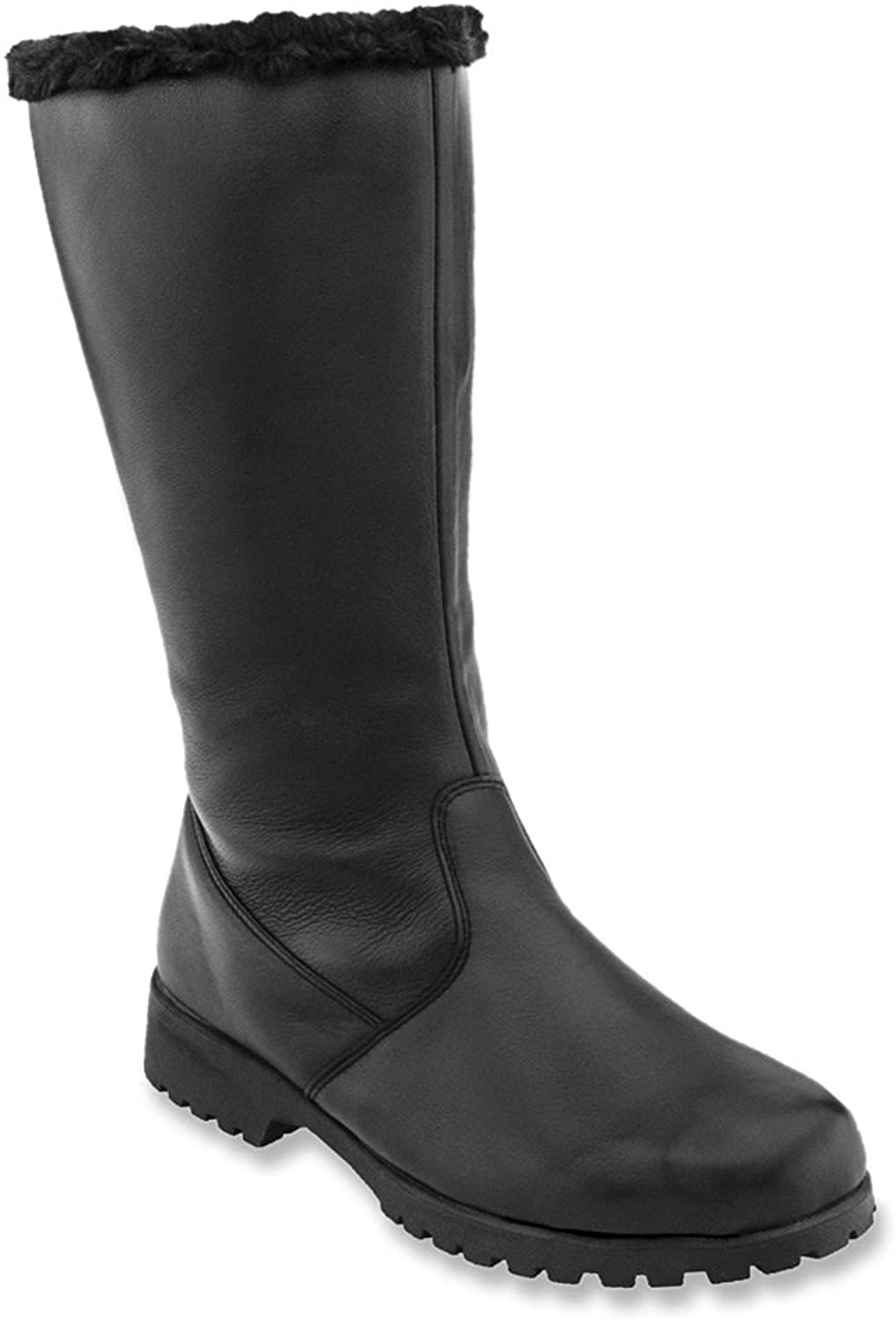 Propét Womens Madison Leather Closed Toe Mid-Calf Fashion, Black, Size 7.0