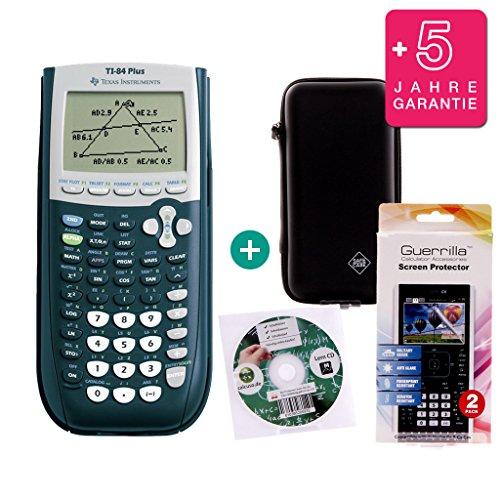 Streberpaket: TI-84 Plus + Erweiterte Garantie + Schutzfolie + Lern-CD (auf Deutsch) + Schutztasche