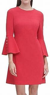 Tommy Hilfiger Women's Scuba Crepe Bell Sleeve Dress