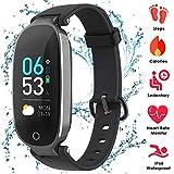 AGPTEK Fitness Tracker Donne IP68, Braccialetto Fitness Donna Schermo Colori con Cardiofrequenzimetri, Tempo, Contapassi, Orologio Fitness Donna per iPhone Samsung Xiaomi Huawei