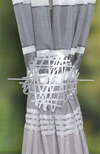 Home fashion RAFFHALTER AUS METALL-ABSTRAKT, silber, 18 x 2 cm, 1-Einheiten