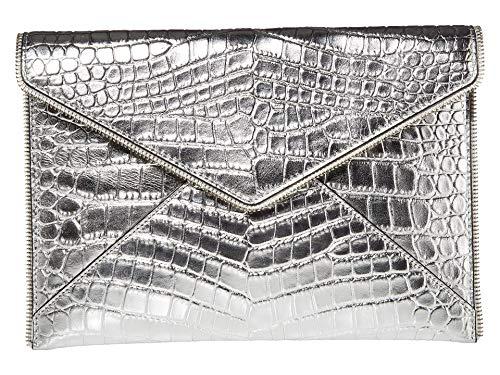 Rebecca Minkoff Leo Clutch Silver 6 One Size