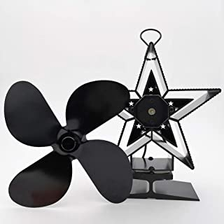 ZCSPFAIRY Heat Powered Portable Stove Fan 4 Blades for Wood/Log Burner/Fireplace Circulates Warm/Heated Air – Eco-Friendly