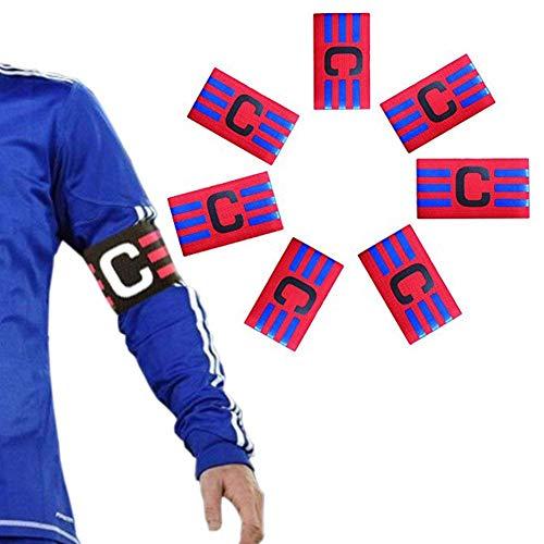 ASEOK Fútbol Capitán Brazalete, Fútbol Brazalete Elástico, Velcro para Tamaño Ajustable, Apto para Varios Deportes como el Fútbol y Rugby Etc
