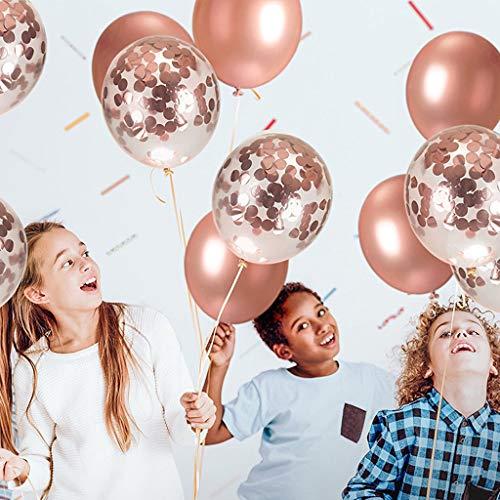 Bhty235 Palloncini colorati in lattice, 30,5 cm, palloncini gonfiabili a elio per Natale, compleanno, matrimonio, feste