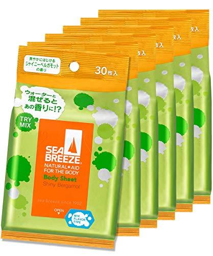 【まとめ買い】シーブリーズ ボディシート シャイニーベルガモット 30枚×6個セット