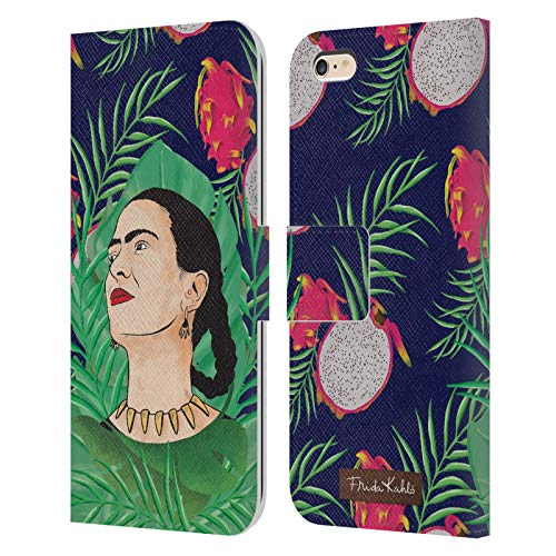 Head Case Designs Ufficiale Frida Kahlo Tropicale Primo Piano 3 Cover in Pelle a Portafoglio Compatibile con Apple iPhone 6 Plus/iPhone 6s Plus