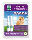 MENFORSAN Pipetas Anti-Insectos Con Margosa, Geraniol Y Lavandino, para Gatos, 2 x 1.5 ml, incoloro