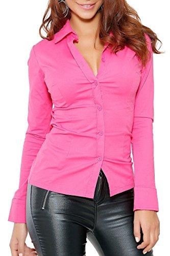 INFINIE PASSION - Zurück schnürung - Sexy pinkfarbene Bluse