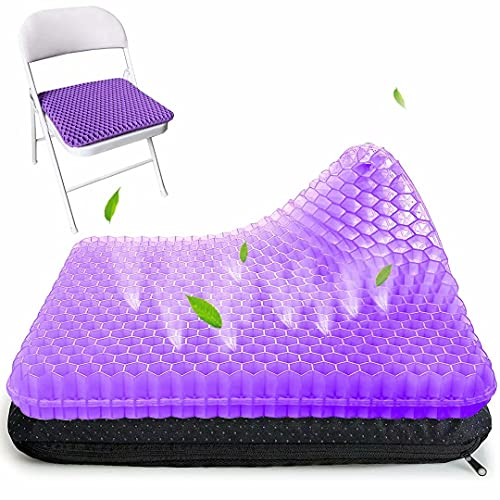 Gel Seat Cushion, Breathable Honeycomb Design Pain Relief Egg Seat Cushion for Home Office