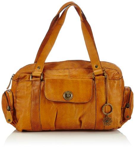 PIECES Damen TOTALLY ROYAL LEATHER SMALL BAG NOOS Handtasche, Braun (Cognac), 32x20x12 cm (B x H x T)