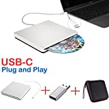 externe dvd / cd - laufwerk usb-c superdrive usb - dvd - / cd - brenner fahren, dvd / cd - rw - laufwerk für macbook pro / air / laptop / desktop für mac osx windows10 / 7 / 8 …