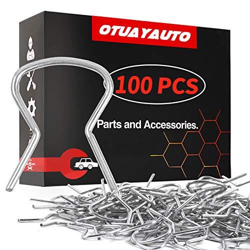 OTUAYAUTO 100Pcs Window Crank Handle Clips - Replacement for Dodge Ram Chevy Jeep GM Door Handle Retainer Clips