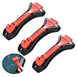Clyhon - Martillo de seguridad para coche de 3 piezas, herramienta de escape de emergencia con rompeventanas y cortador de cinturón de seguridad, kit de supervivencia para salvar vidas