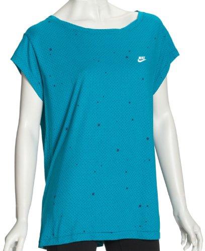 Nike Damen T-Shirt Kimono Tee, Turbo Green/White, M, 365007-364