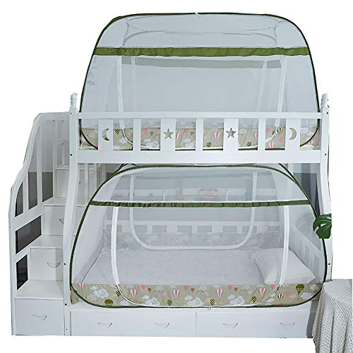 Moustiquaire Lit Baldaquin Nets étudiant Couchette Maille Adulte Double Tente Installation Facile Pliante Yourte Filet pour Dortoir avec Dentelle Décor,C,1.5 * 1.95m