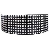 Longruner WS2812B Led Strip Panel Kit Matriz 8x32 256 Píxeles Digital Integrado Flexible WS2812B IC Luz LED con Iluminación de Color De Sueño Completo DC5V LWS03