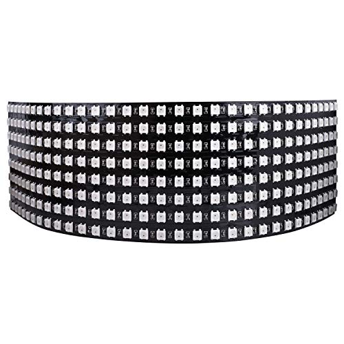 Longruner WS2812B LED Strip Panel Kit Matrix 8x32 256 Pixel Digitales Flexibles Integriertes WS2812B IC LED Licht mit Voller Traumfarbenbeleuchtung DC5V LWS03