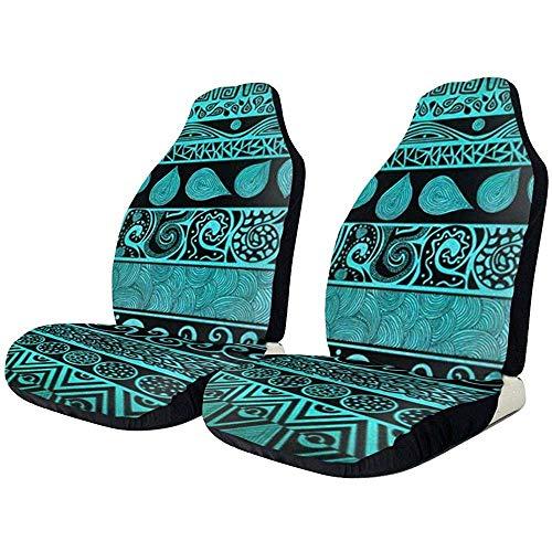 2 stuks Amerikaanse zuidwesten Native Tribal Navajo Aztec autostoelen omvat alleen beschermhoezen universeel voor limousine truck SUV Van