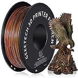 GEEETECH PLA Filamento de seda 1.75mm, impresora 3D Filamento PLA 1kg Carrete (k-rainbow)