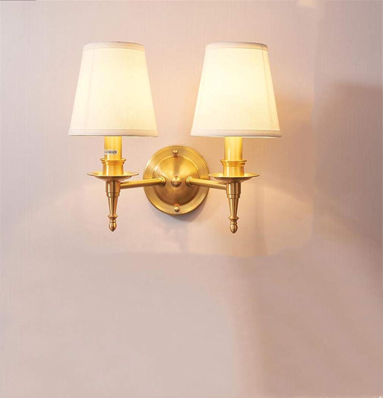 Simpleled Tout Cuivre Américain Bois Lampe Murale Chambre Lampe De Chevet Salon Lampe Murale Escalier Allée Moderne Minimaliste