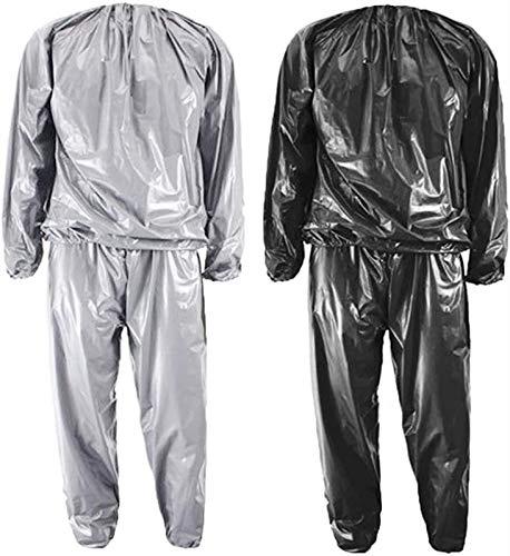 Traje de Sudor Traje de Sauna para Adelgazar  Hombres, Lentes Sudor Sudor Cubierta Sauna Trajes de chándal Traje de Fitness Traje de Sudor Traje de Soldadura Traje (Color : Silver, Size : XL)