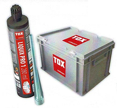 TOX Verbundmörtel Liquix Pro 1 - Standard Kartusche Styrolfrei 20 Stück - inkl. Transportbox